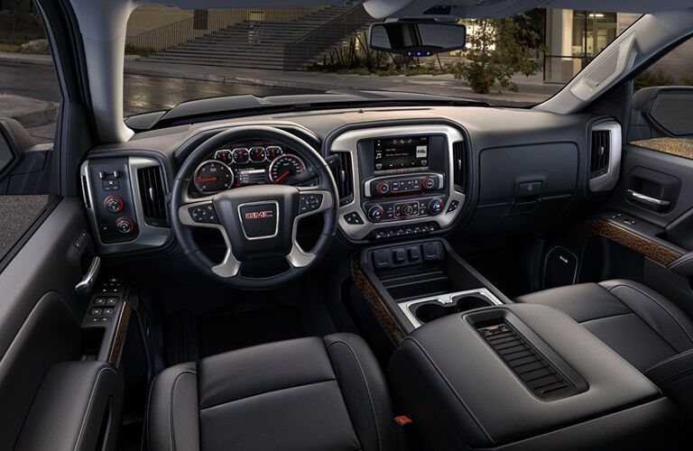 2016 GMC Sierra 1500 interior front seats and dash
