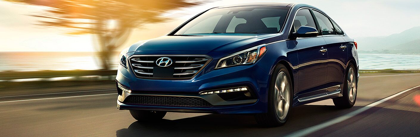 2017 Hyundai Sonata driving down road