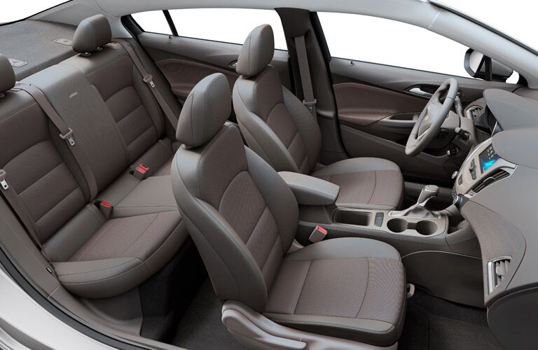 top view seating in chevrolet cruze