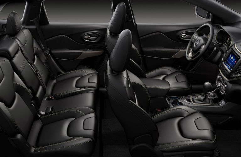 black seating inside of Jeep Cherokee