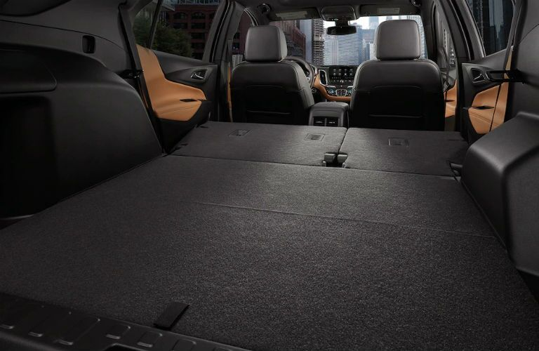 chevrolet equinox truck space with folded seats