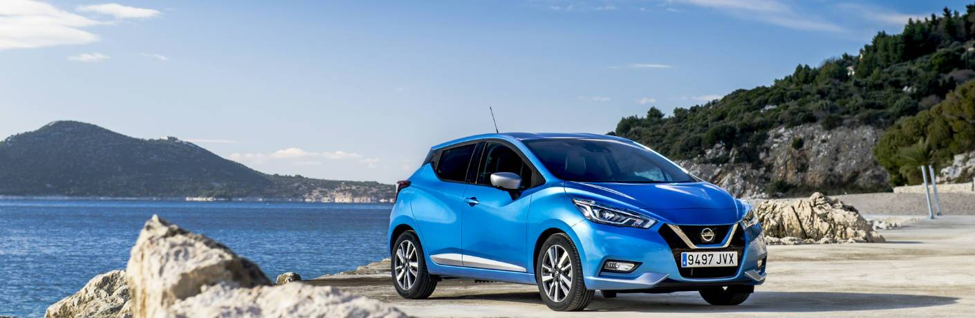 2018 Nissan Micra on the shore