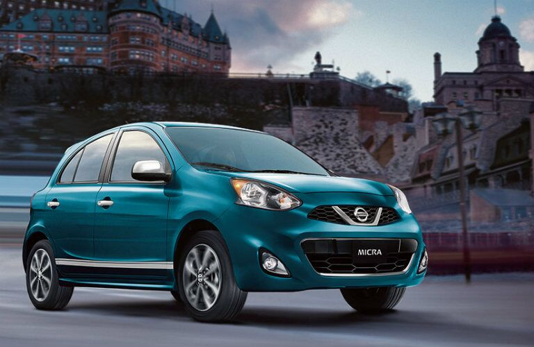 2018 Nissan Micra in a city