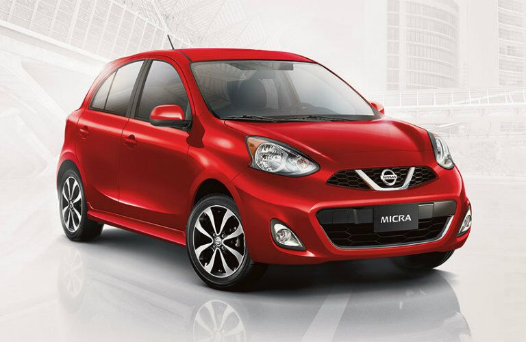 2018 Nissan Micra over abstract white background
