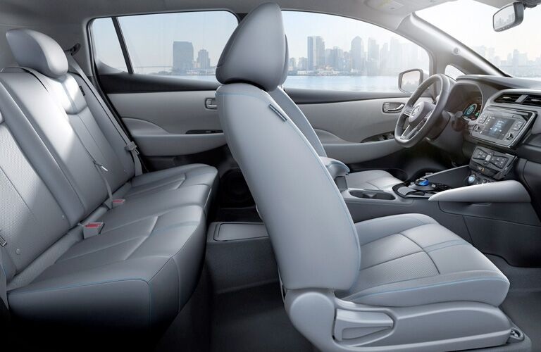 seating inside of a Nissan LEAF