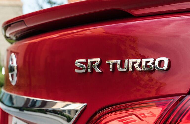 red 2019 Nissan Sentra sr turbo logo
