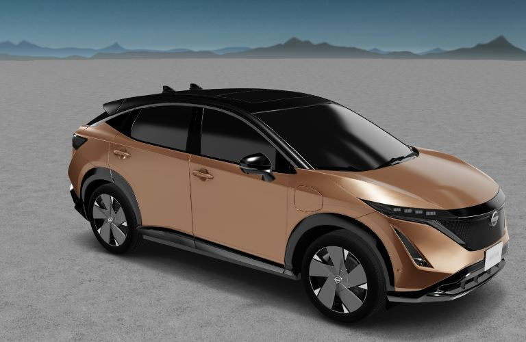 Nissan Ariya front side view