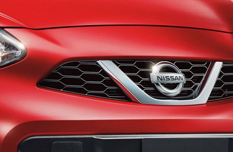 2019 nissan micra red front emblem