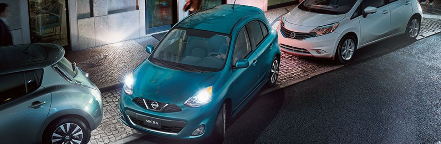 teal 2019 Nissan Micra ® parking