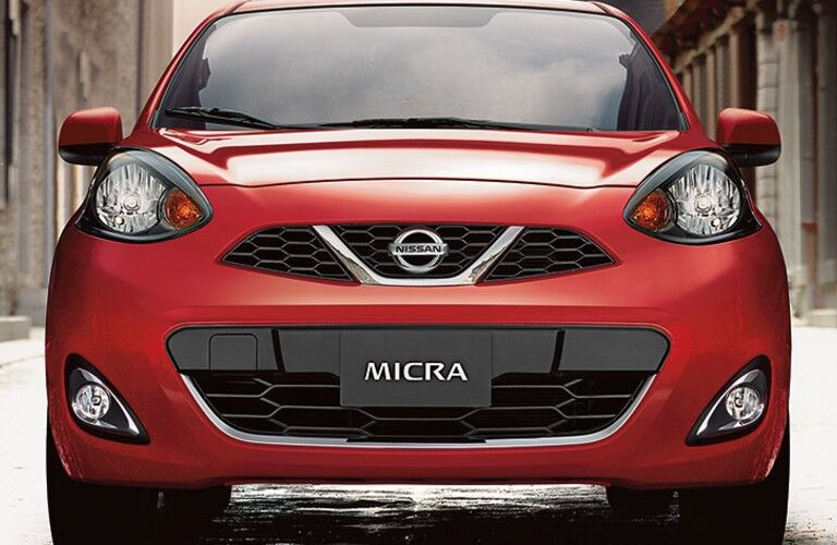 red 2019 Nissan Micra ® front view