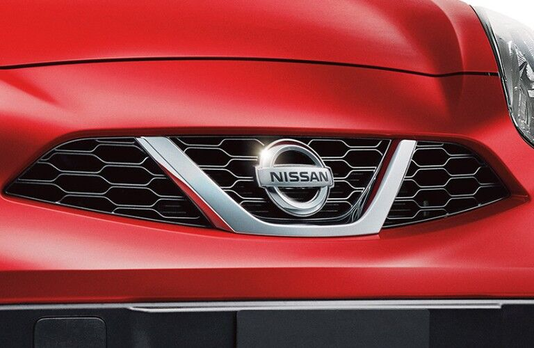 red 2019 Nissan Micra ® grille