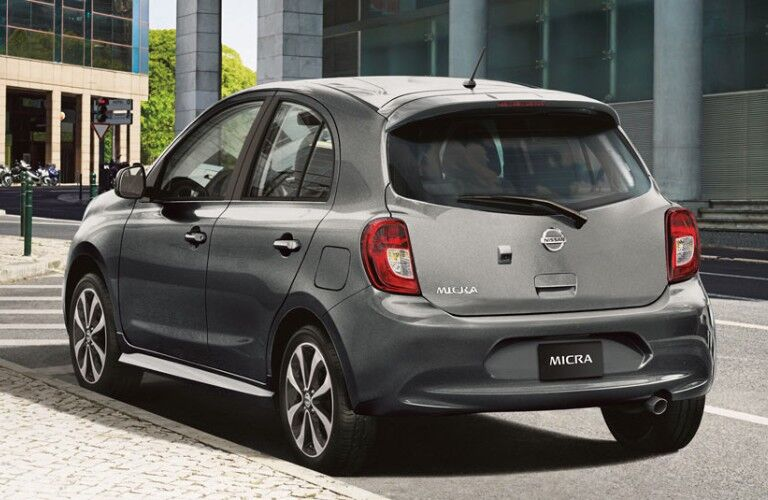 silver 2019 Nissan Micra ® in a city