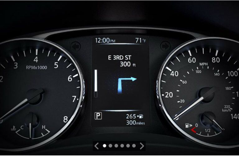 instrument panel of 2019 Nissan Qashqai