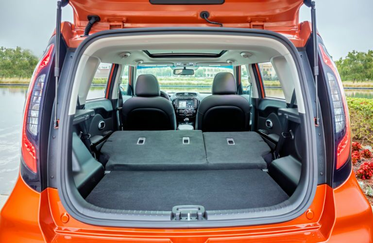 2019 Kia Soul total cargo room with seats folded