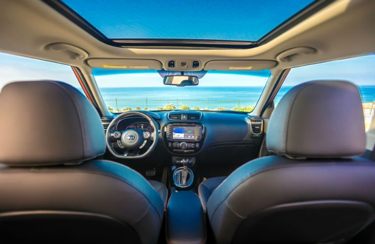 2019 Kia Soul with view from back seat looking out windshield