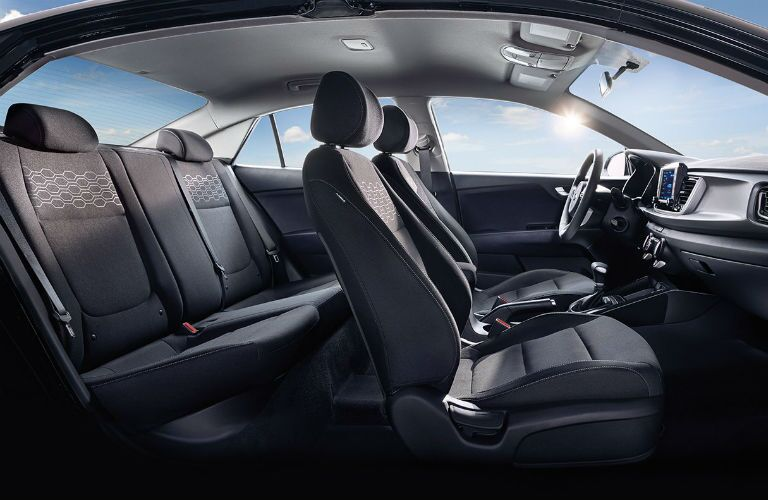 2018 Kia Rio profile view of seating
