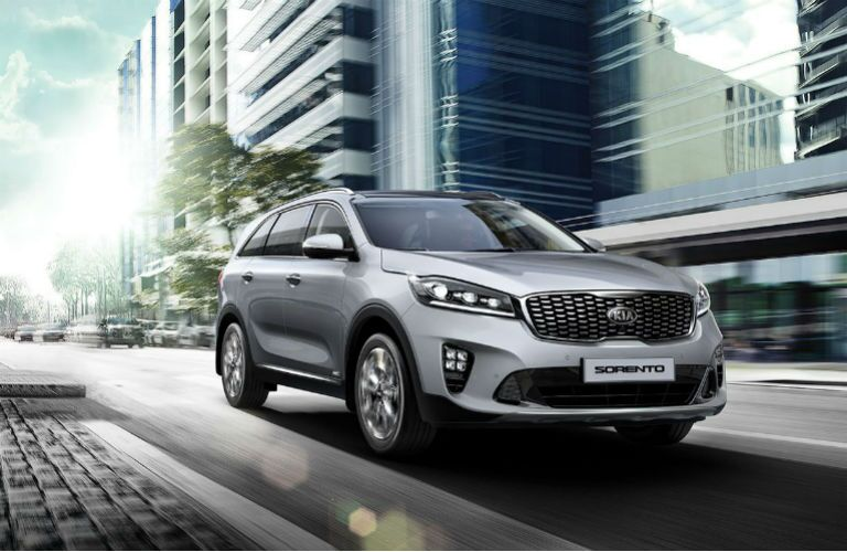 2019 Kia Sorento on the road