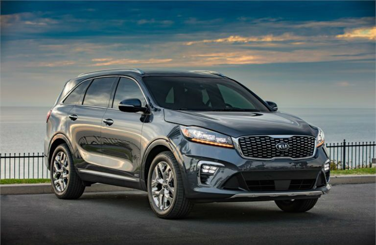 2019 Kia Sorento with a beautiful sky backdrop