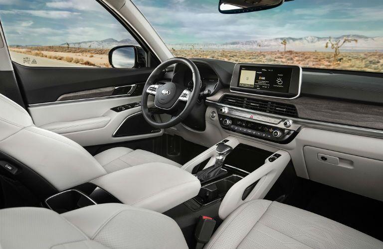 2020 Kia Telluride front seat and dash