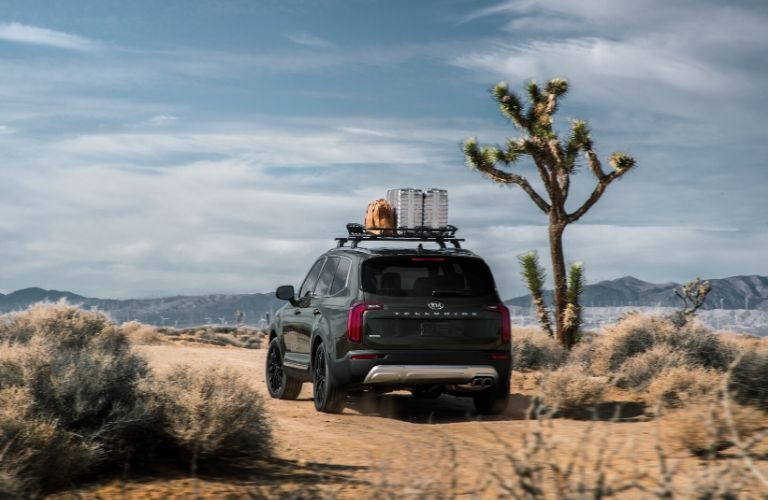 2020 Kia Telluride with cargo on its roof