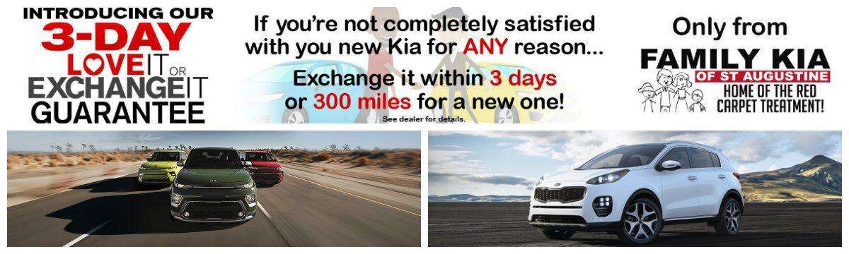 Family Kia 3-Day Exchange Guarantee