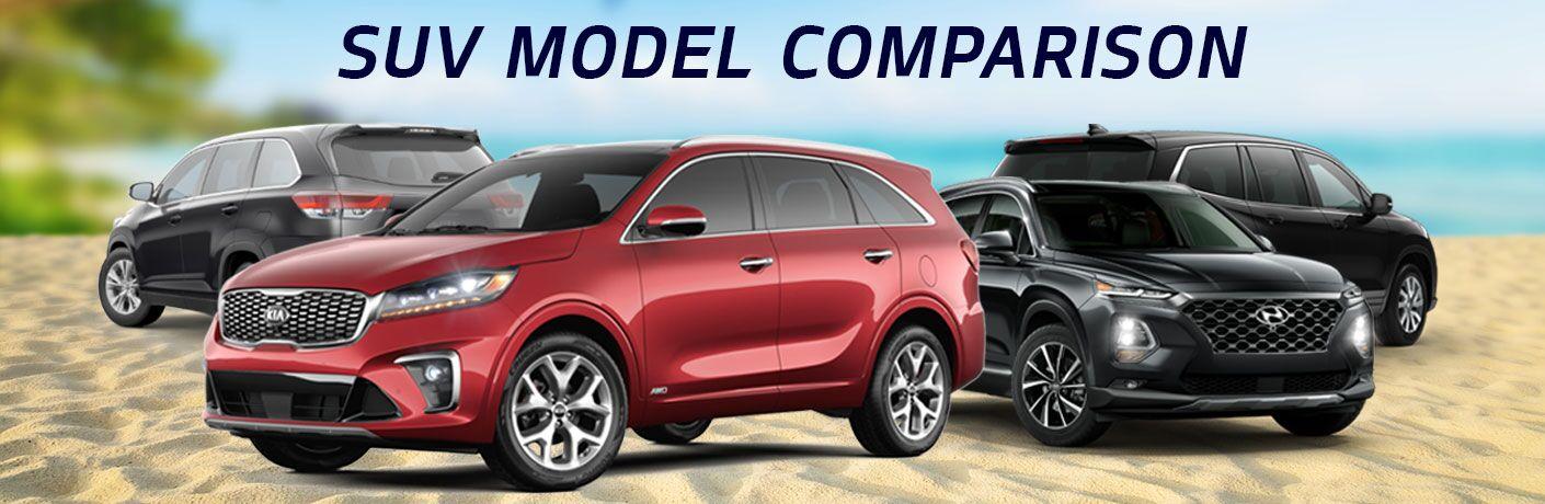 Honda Pilot Vs Hyundai Santa Fe >> Suv Comparison 2019 Kia Sorento Vs Toyota Highlander Vs