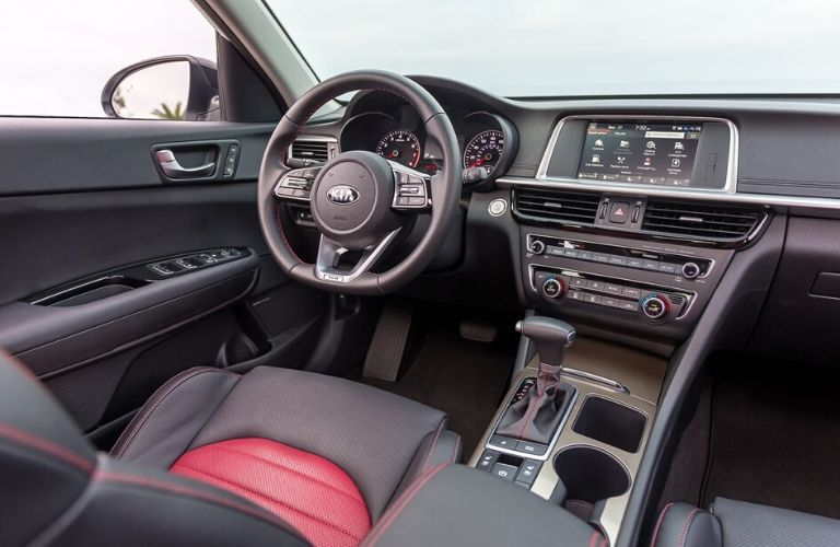 Interior front dash of 2020 Kia Optima