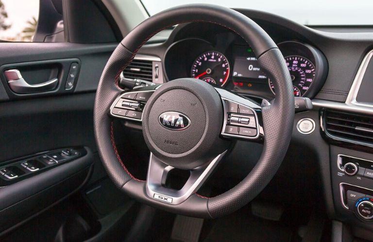 Steering wheel inside 2020 Kia Optima
