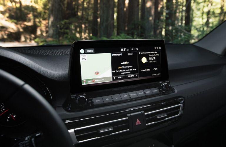 Touchscreen display on 2021 Kia Seltos