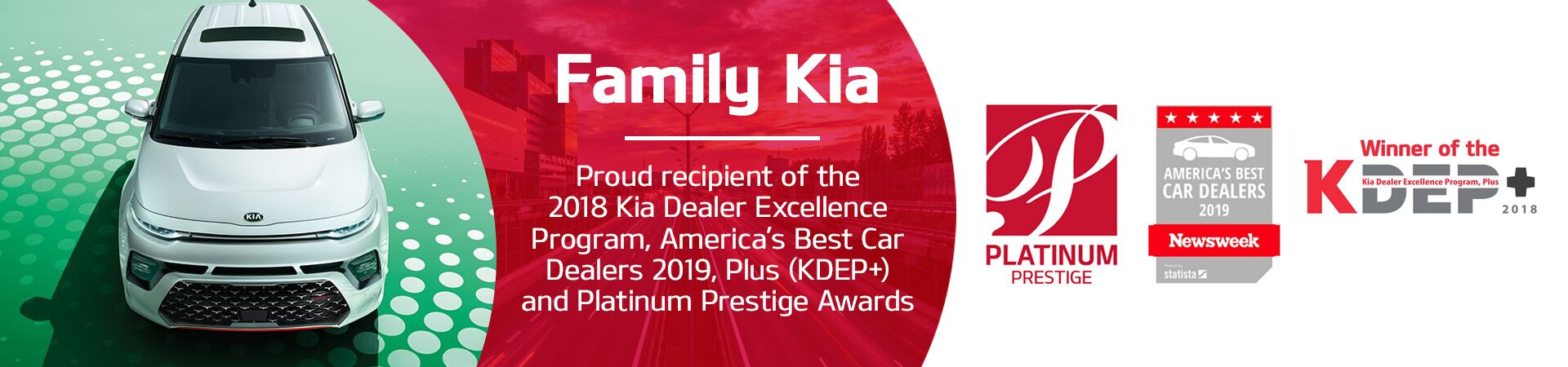 Family Kia of St. Augustine FL awards and accolades