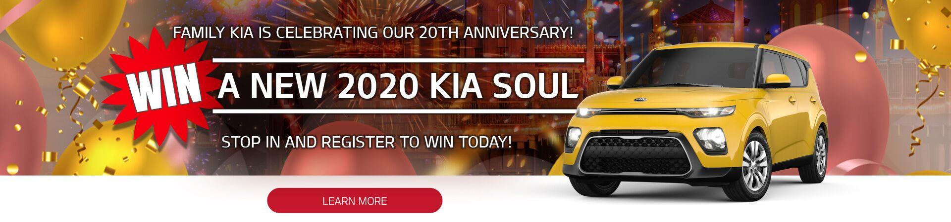 Family Kia 20th Anniversary 2020 Kia Soul Giveaway