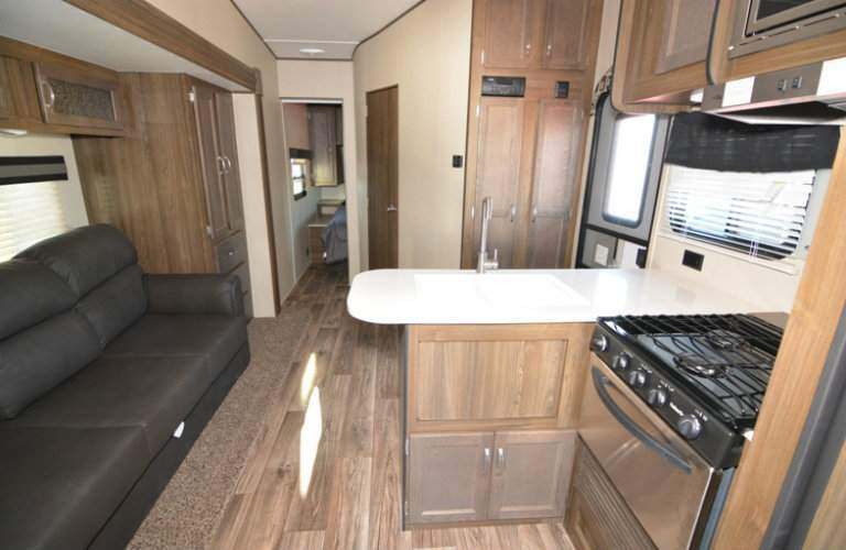 RPM Toy Haulers interior kitchen and living room