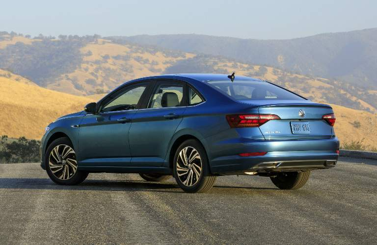 2019 volkswagen jetta rear view parked