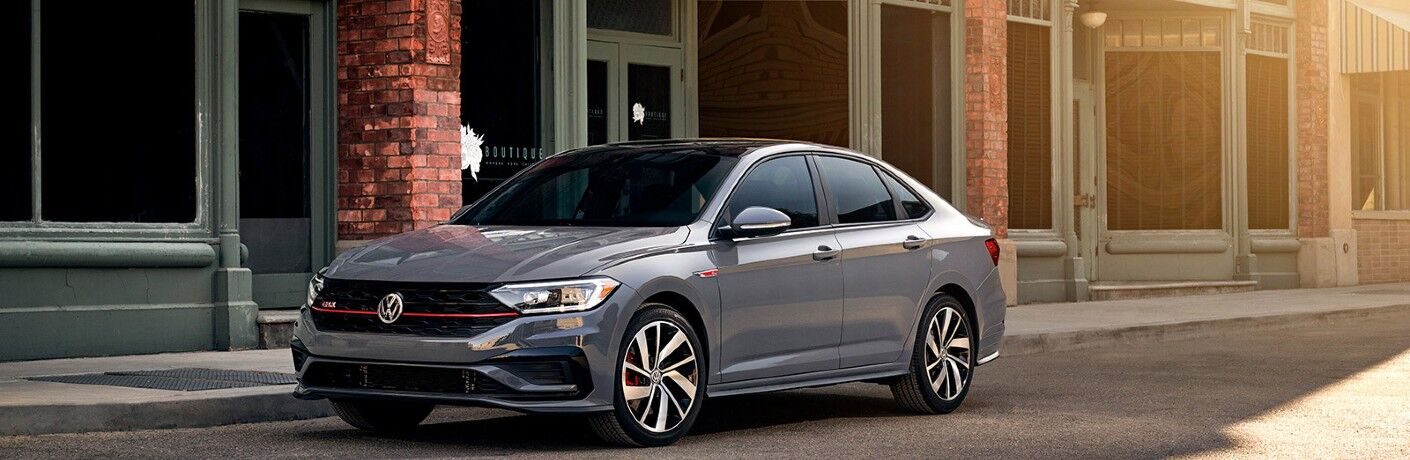 2020 Volkswagen Jetta GLI parked next to building