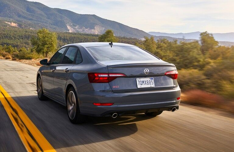rear view of the 2020 Volkswagen Jetta GLI