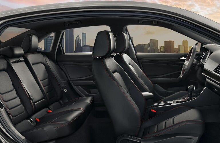 interior view of the 2020 Volkswagen Jetta GLI