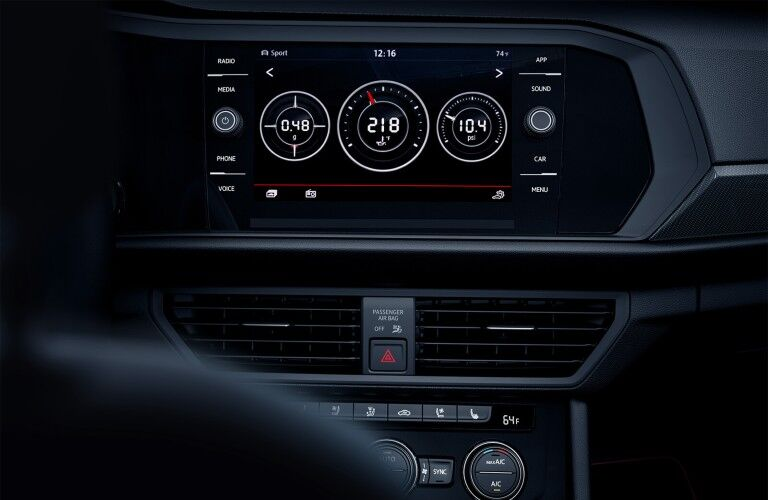 media screen in the 2020 Volkswagen Jetta GLI