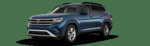 blue 2021 Volkswagen Atlas S