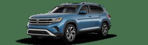 blue 2021 Volkswagen AtlasSEL Premium