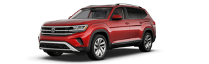 red 2021 Volkswagen Atlas SEL