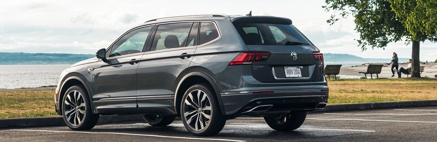 2021 Volkswagen Tiguan parked near beach