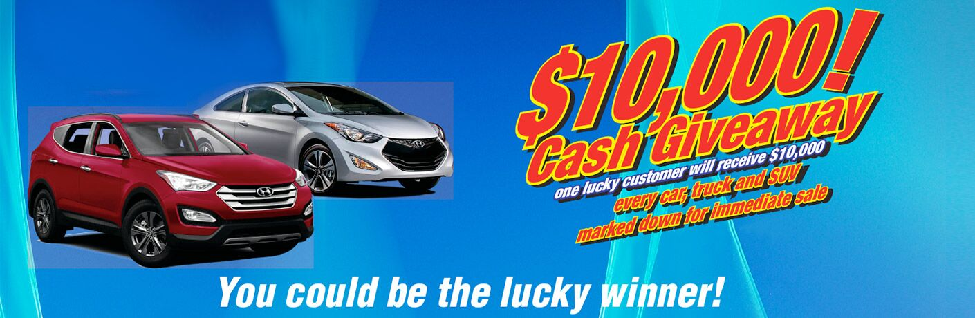 Customers have a chance to win $10,000 at Kelowna  Hyundai