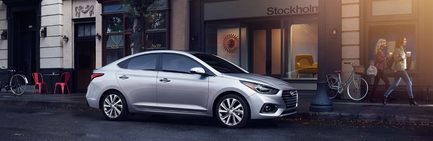 2018 Hyundai Accent parked on street