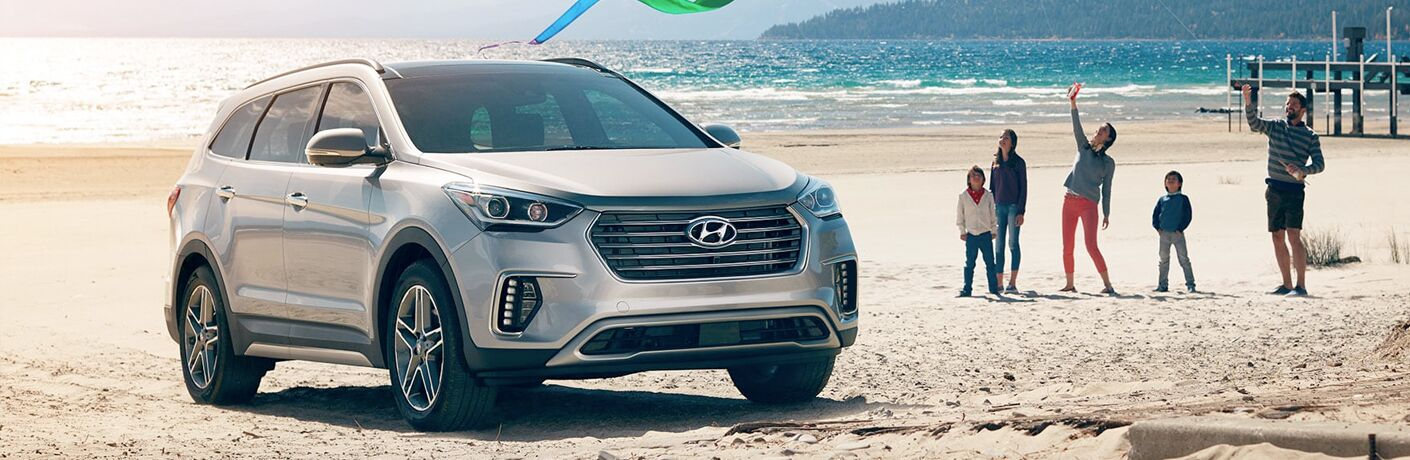 2019 hyundai santa fe xl full view parked on beach