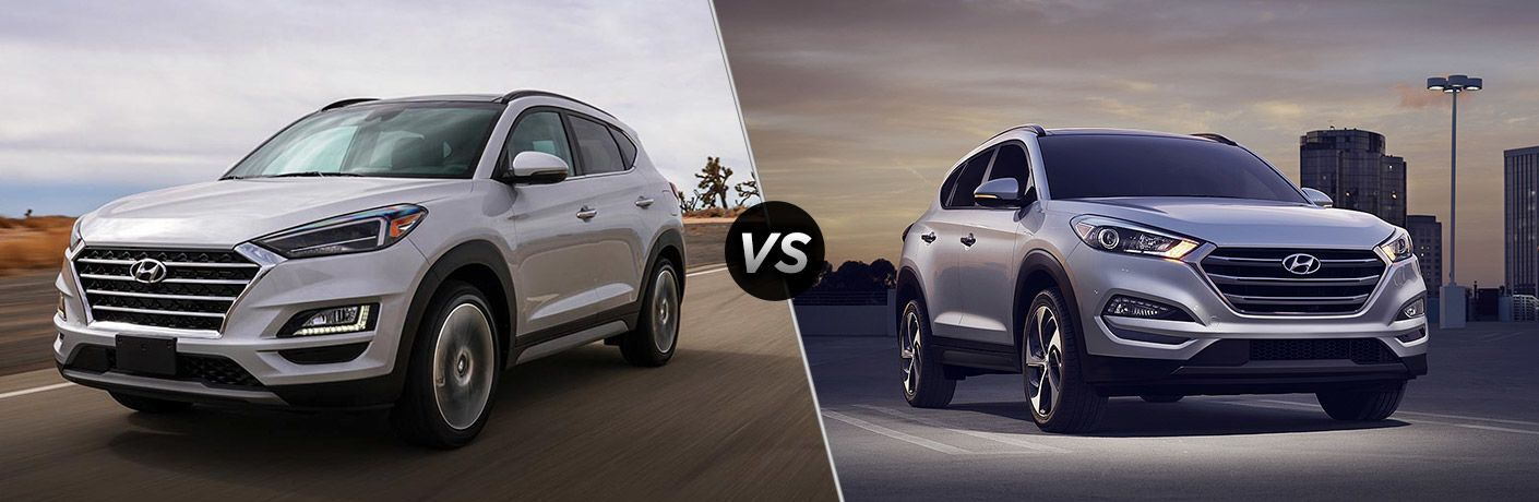 2019 hyundai tucson and 2018 hyundai tucson side by side