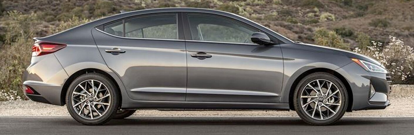 silver 2019 Hyundai Elantra side view