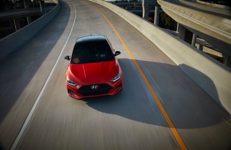 2019 Hyundai Veloster driving on road