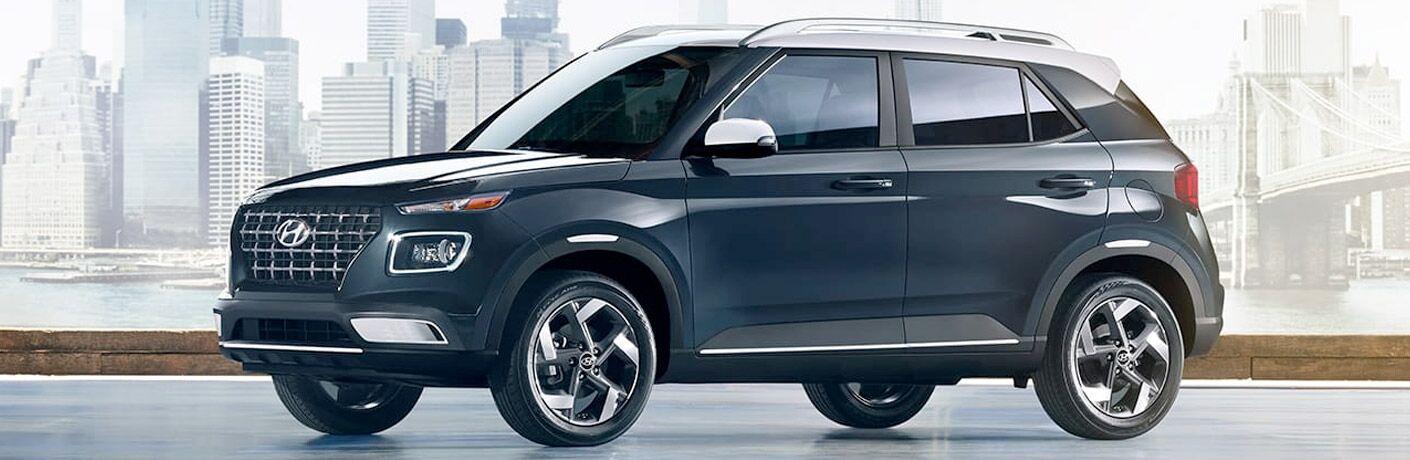 black 2020 Hyundai Venue side view