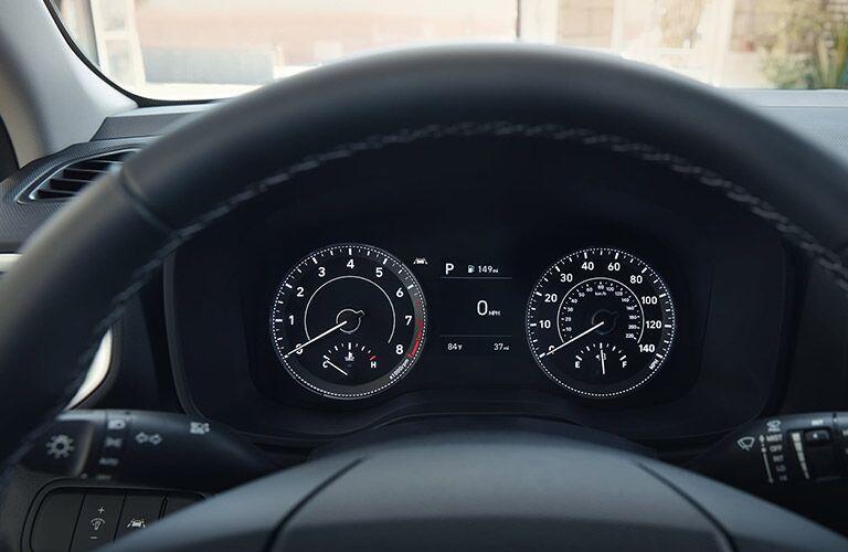 through the steering wheel of a 2020 Hyundai Venue