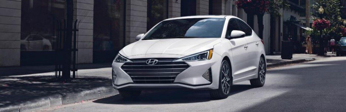 white 2020 Hyundai Elantra front view